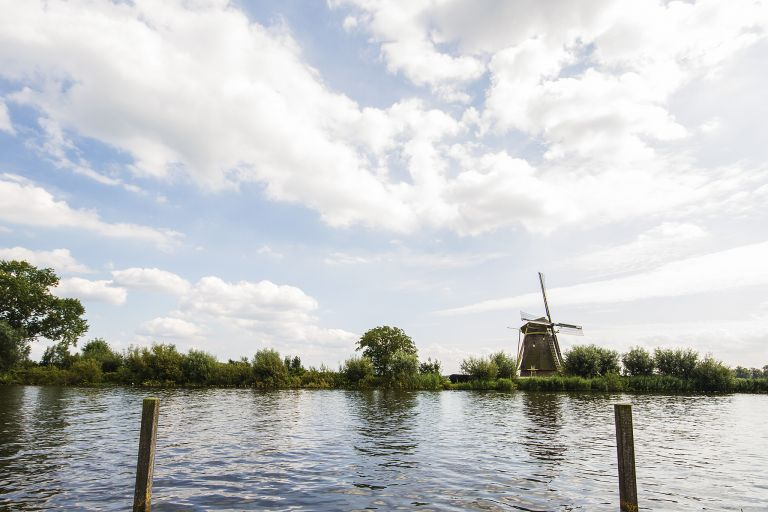 Windmill near the Vecht river