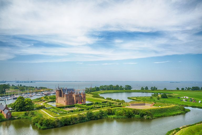 Muiderslot by Drone