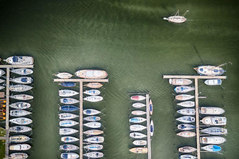 Muiden Marina by drone