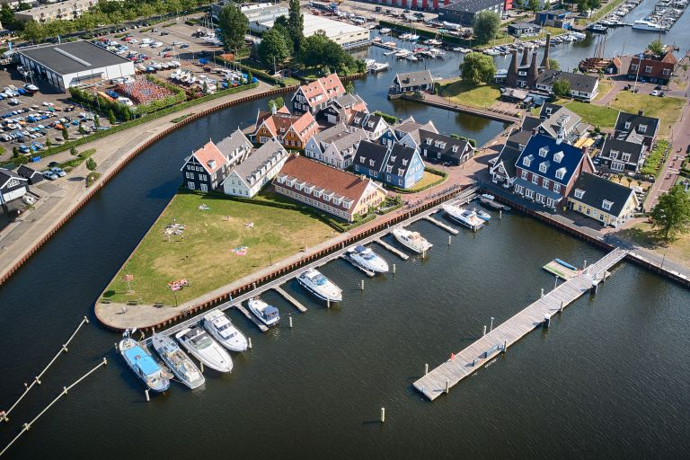 Buildings near Huizen marina