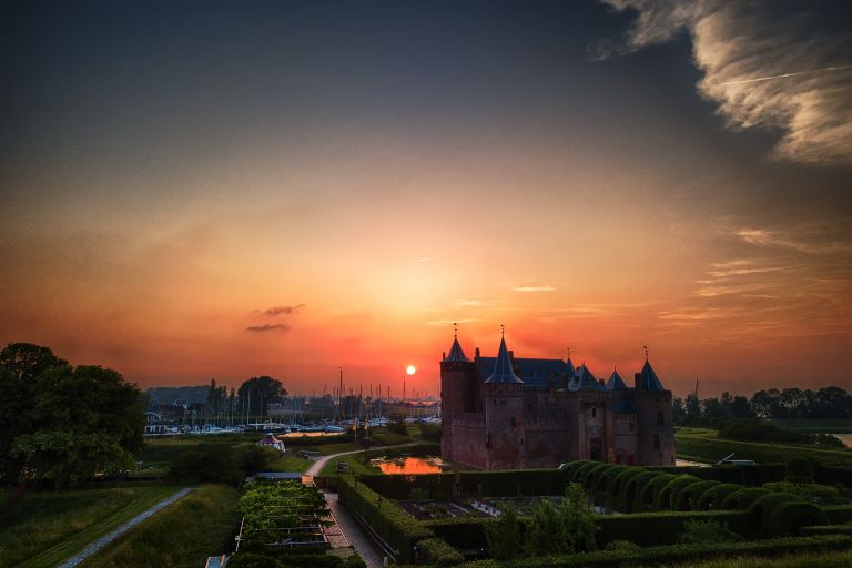 Sunset at Muiderslot