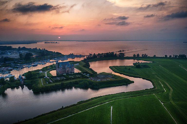 Sunset at Muiderslot