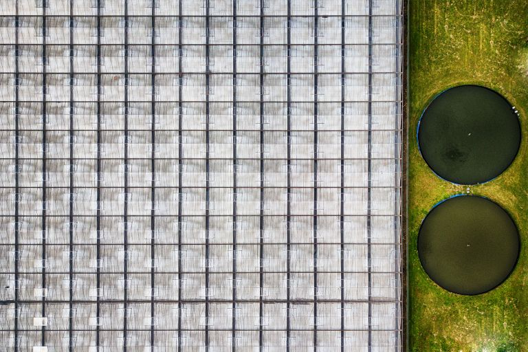 Glasshouse by drone