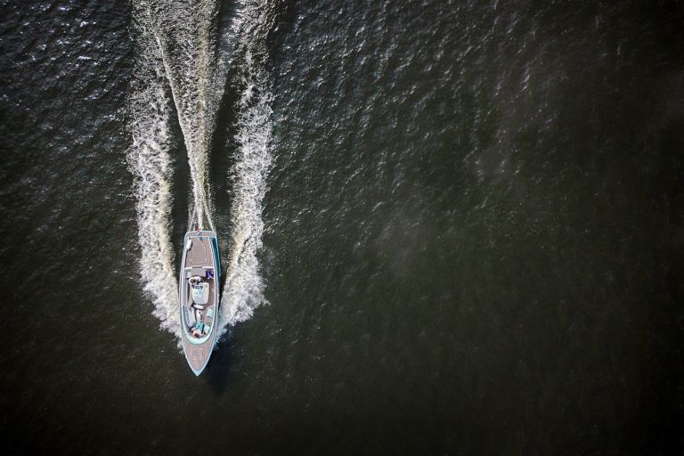 Speedboat from my drone