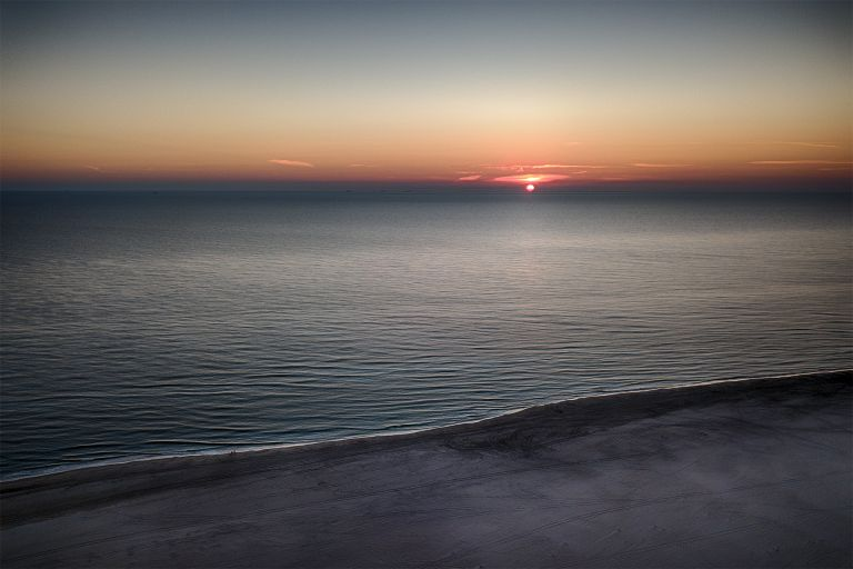 Drone sunset at Hargen aan zee