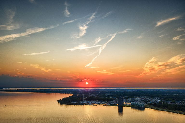 Sunset over Almere-Haven