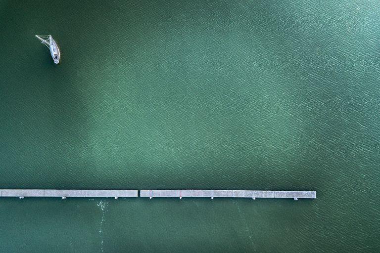 Minimalist drone boat picture