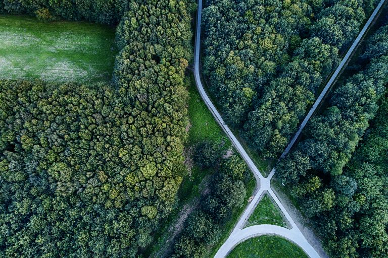 Roads crossing from my drone