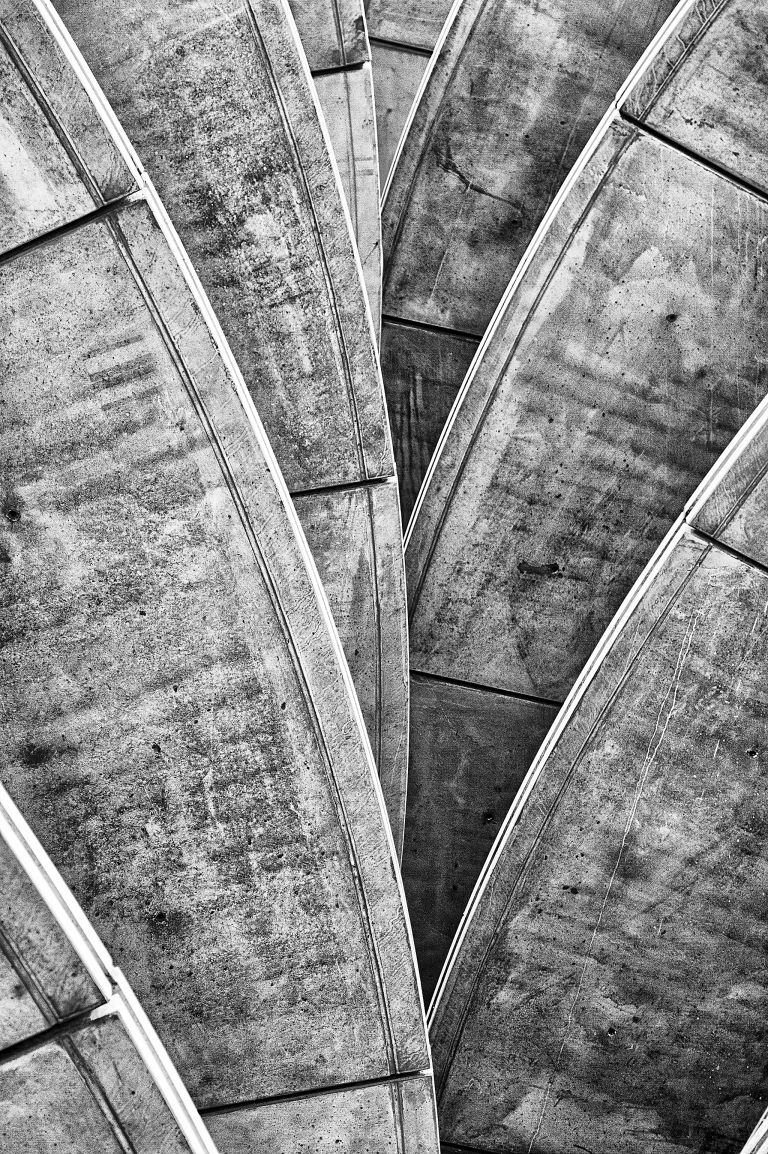 Structure and patterns on parking garage