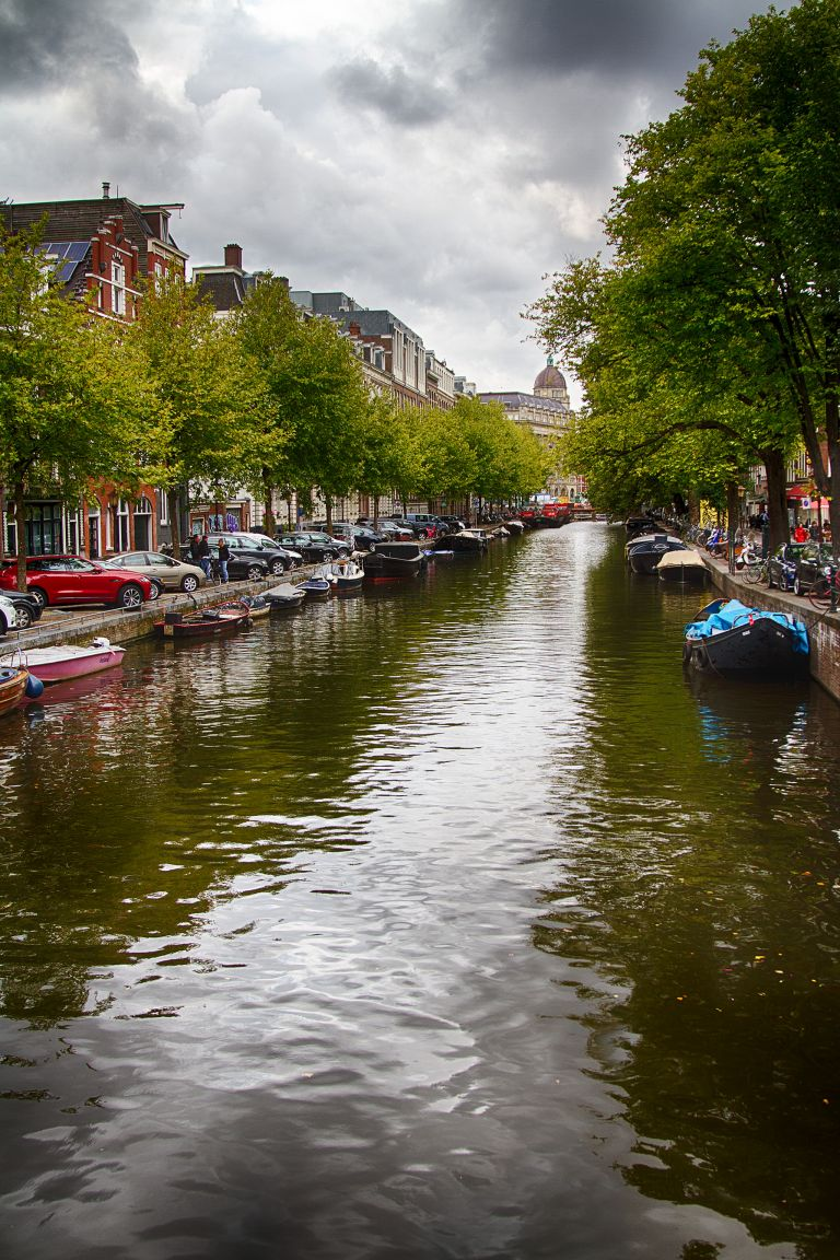 Weteringschans canal in Amsterdam