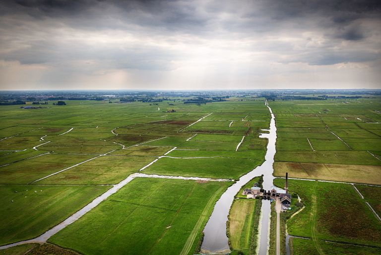 View of the 'polder' by drone