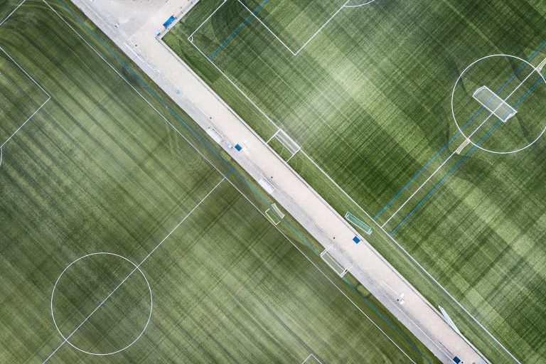 Football training pitches from my drone