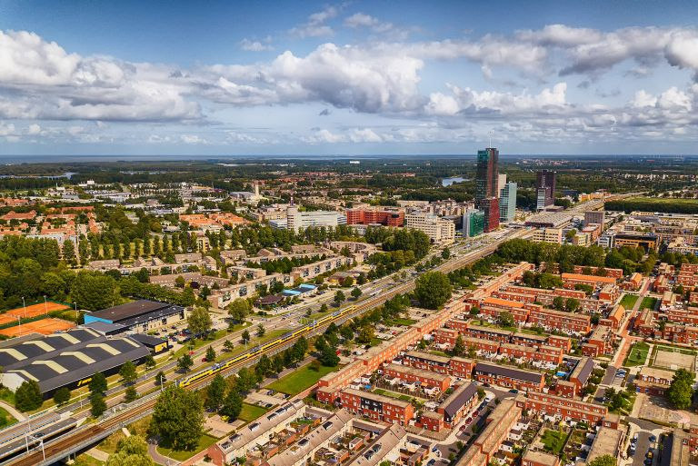 Almere city centre from my drone