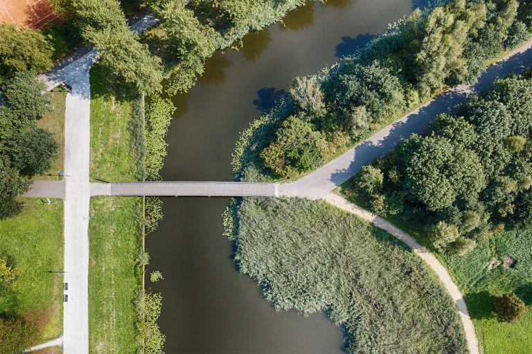 Top-down drone picture of Beatrixpark in Almere