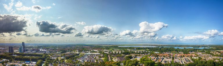 Drone panorama of Waterwijk in Almere