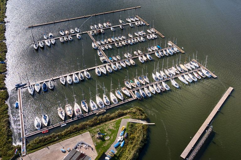 Oostvaardersdiep marina from above