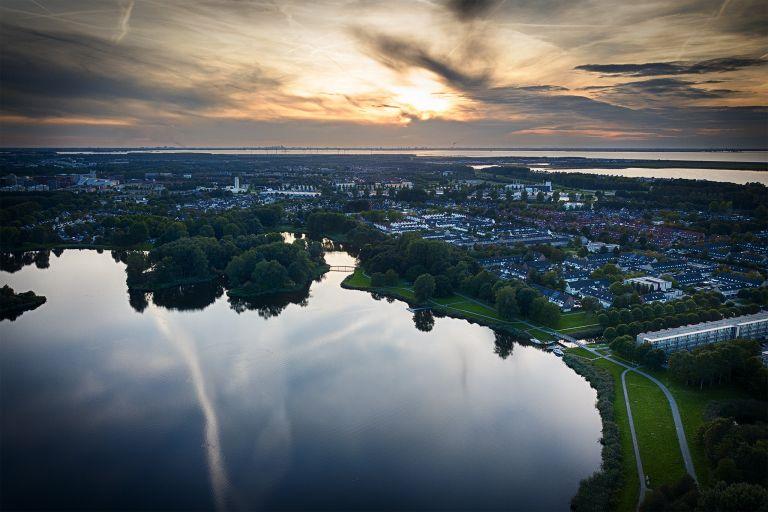 Lake Leeghwaterplas during sunset