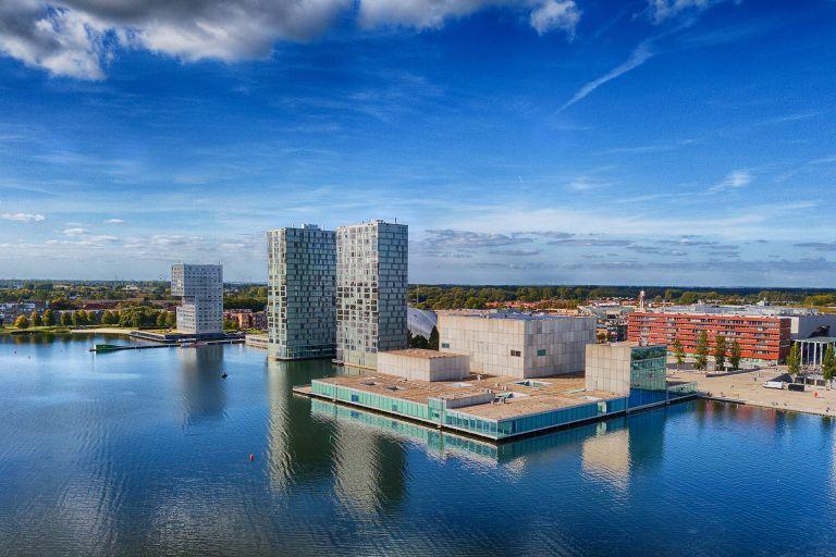 Architecture in Almere city centre, from my drone