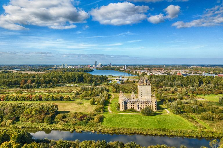Drone overview picture of Almere castle