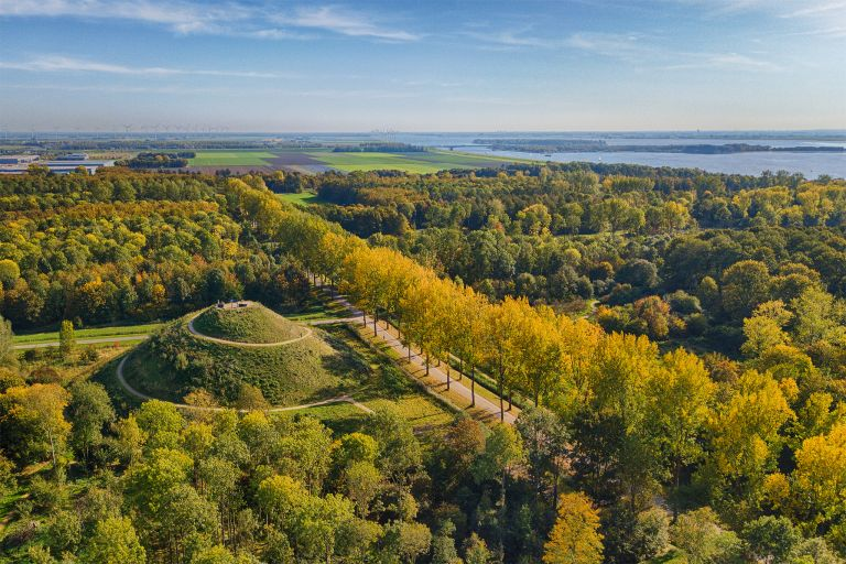 Almere Boven and autumn trees from my drone