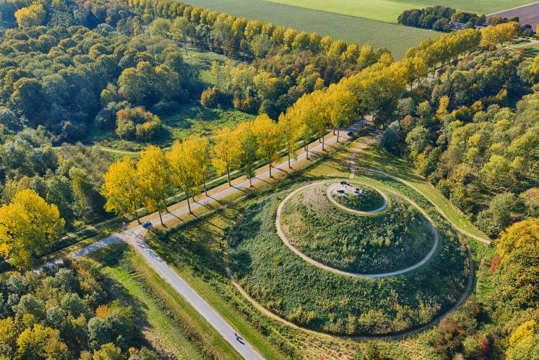 Autumn trees near Almere Boven, as seen from my drone