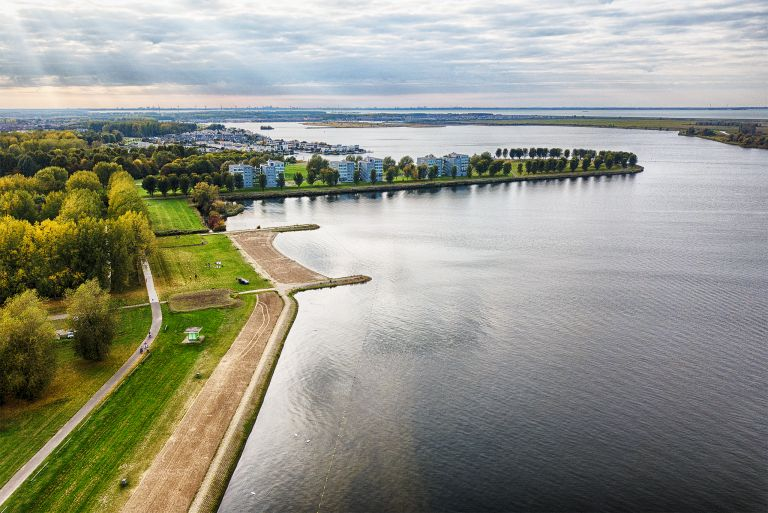 Noorderplassen by drone in autumn
