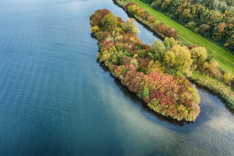 Autumn island from my drone