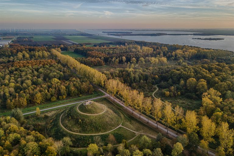 Almere-Boven surrounded by autumn trees
