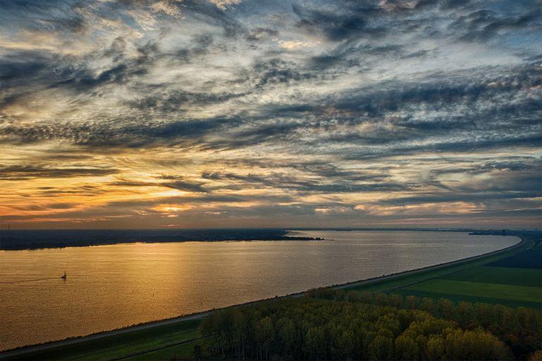 Lake Gooimeer during sunset