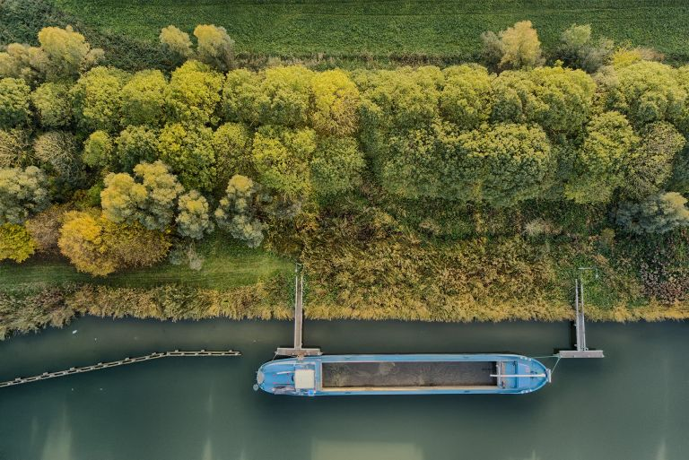 Empty boat from my drone