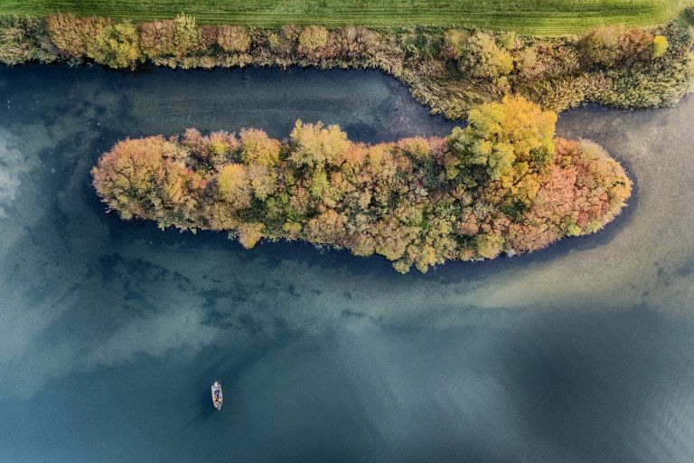 Autumn coloured island from my drone