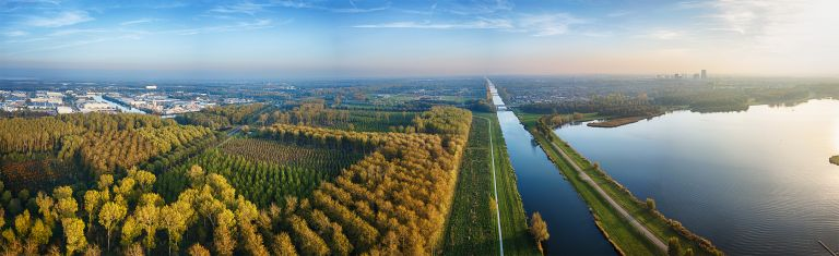 Drone parnorama of autumn colours