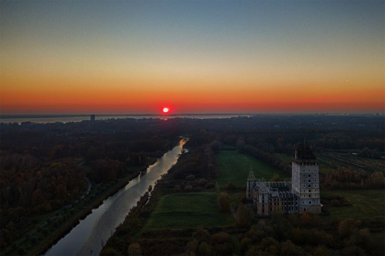 Sunset over Almere Castle