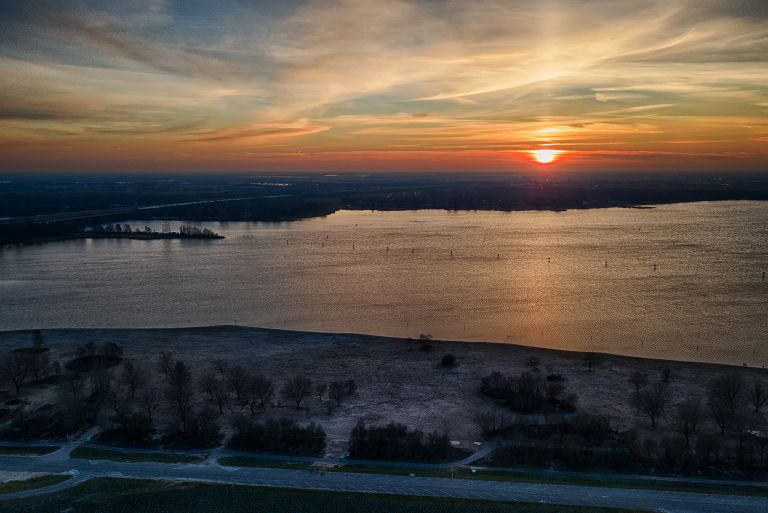 Cold sunset from my drone