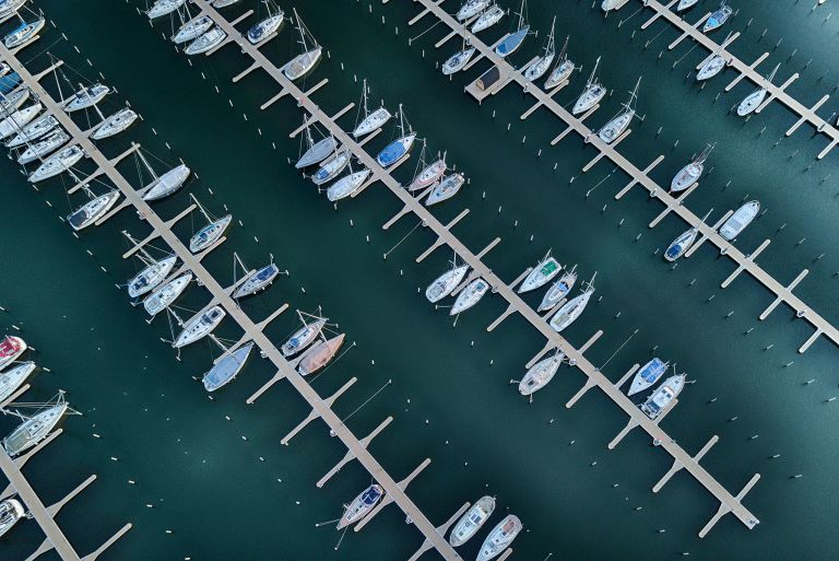 Muiderzand marina from my drone
