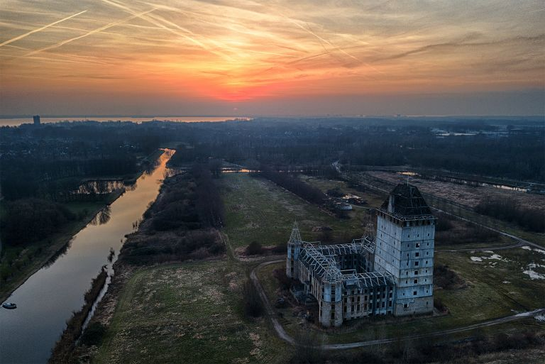 Almere Castle from my drone at sunset