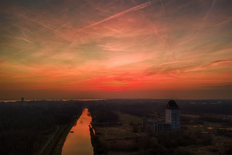 Very orange sunset from my drone