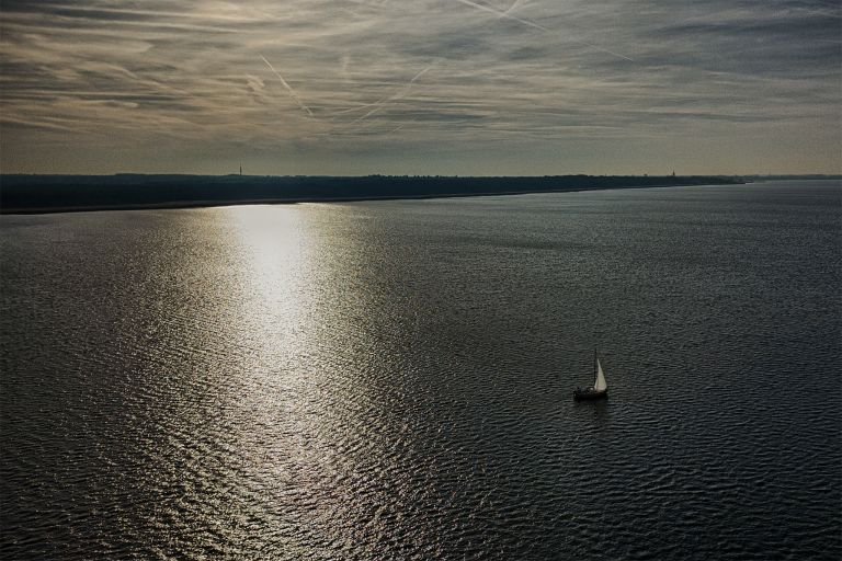 Sailing boat from my drone in February
