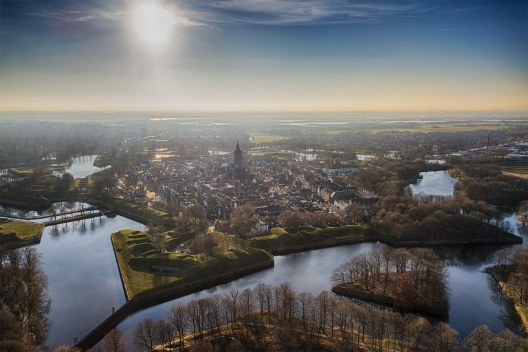 Start fort Naarden-vesting from my drone