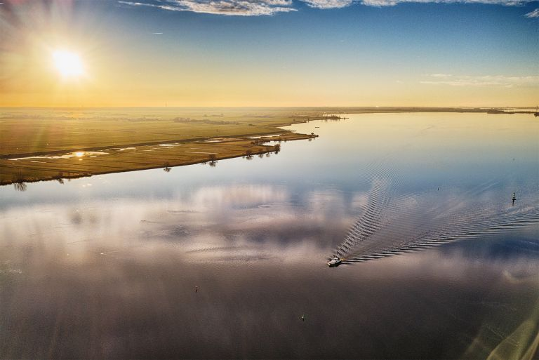 Ripples in the water of lake Eemmeer