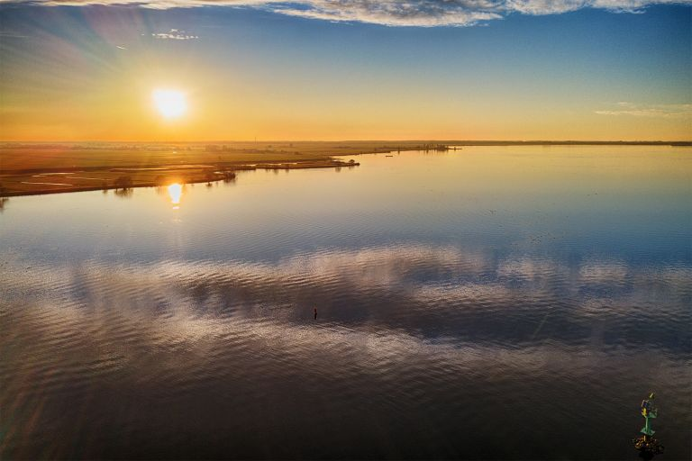 Drone picture of lake Eemmeer