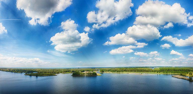Lake Noorderplassen drone panorama