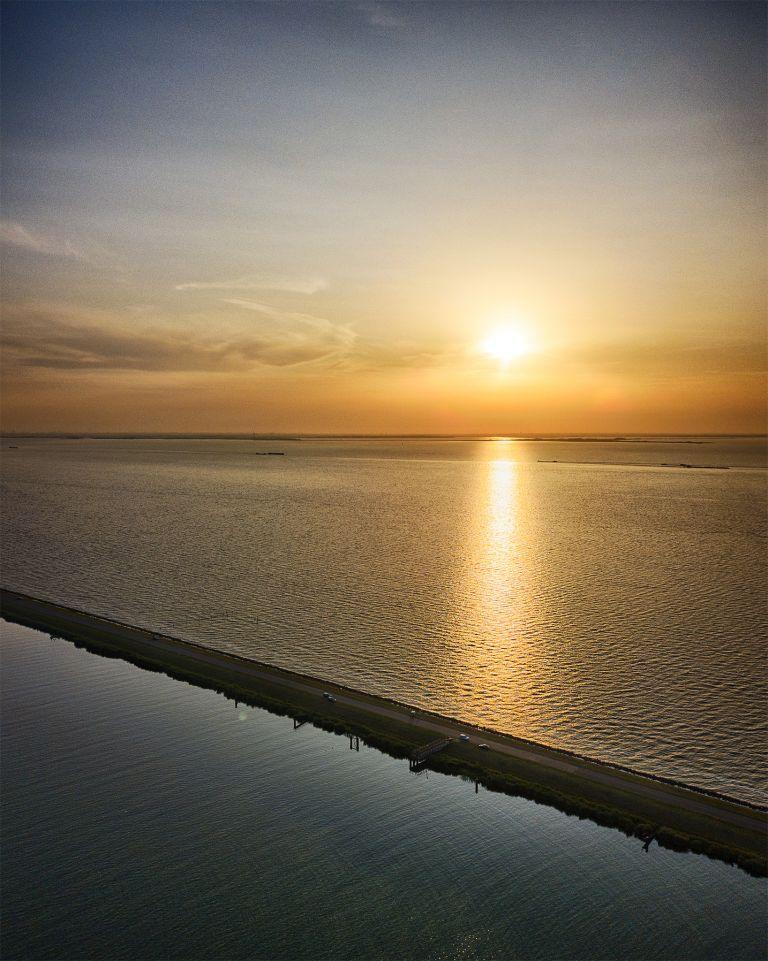Oostvaardersdiep during sunset