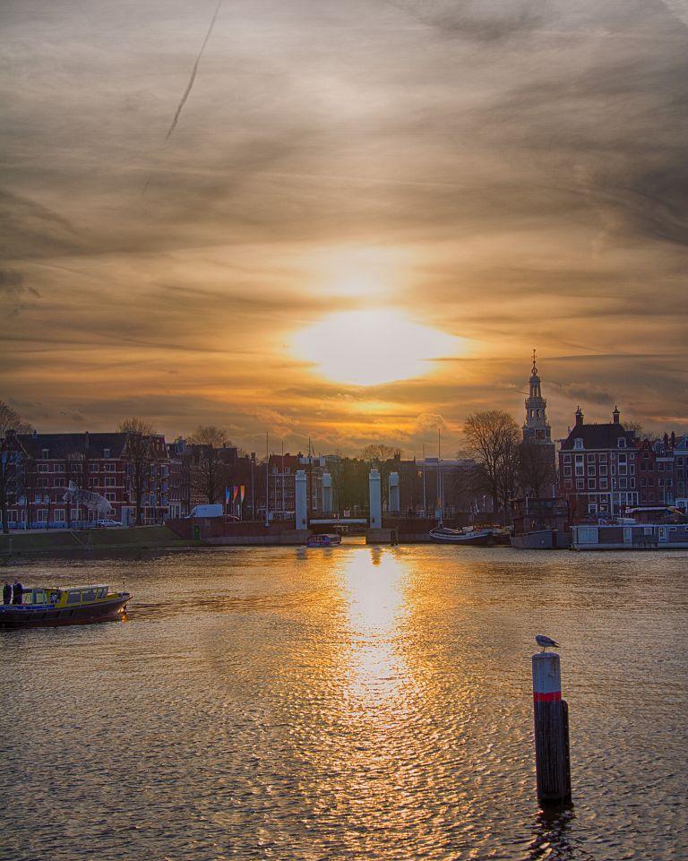 Sunset in Amsterdam