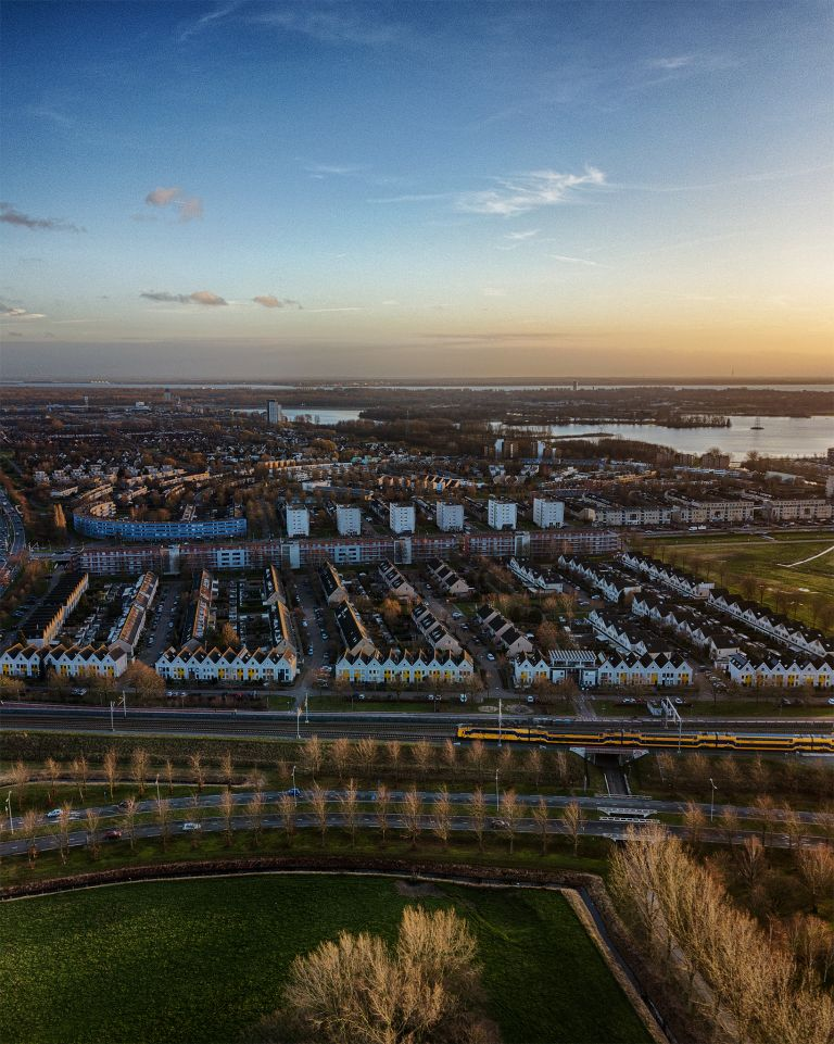Drone picture of Filmwijk, Almere