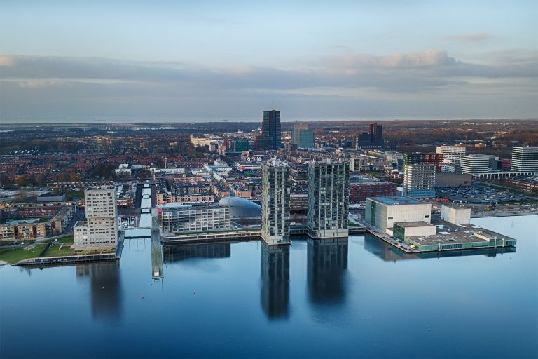 Almere-Stad city centre from my drone during sunset