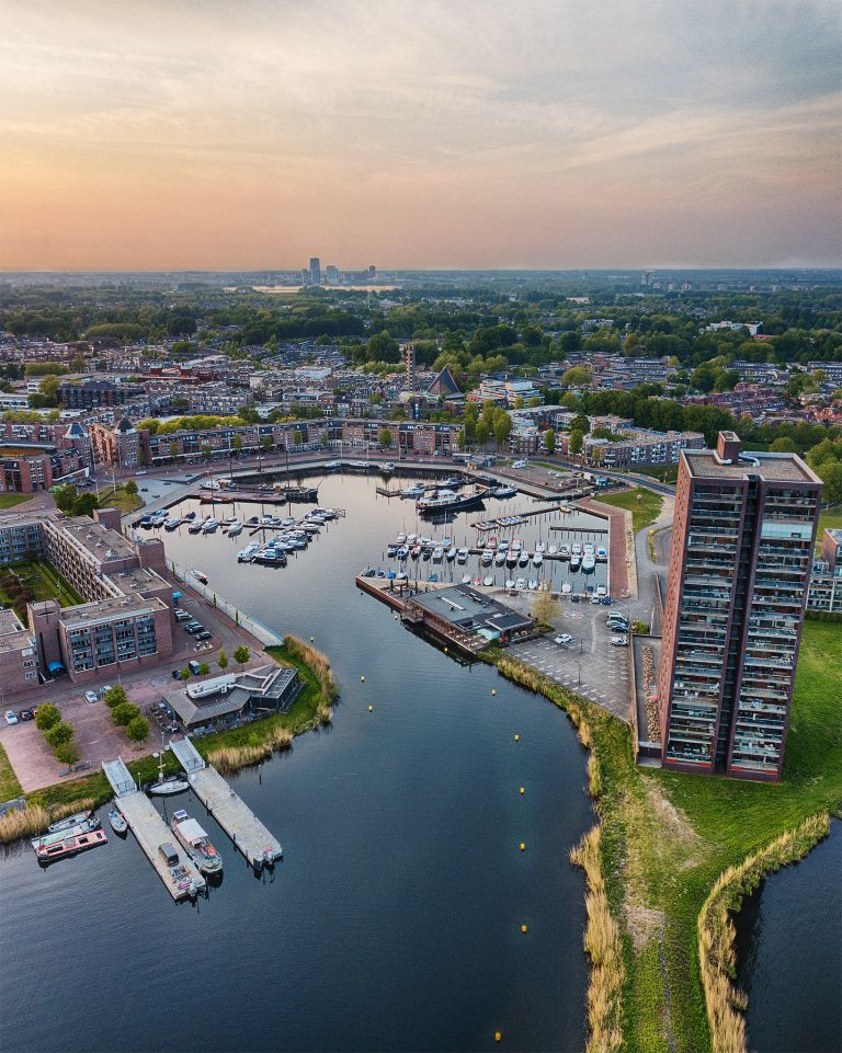 Almere-Haven from my drone during sunset