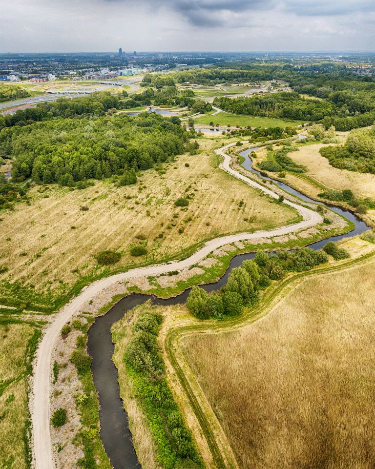 Kromslootpark from the air