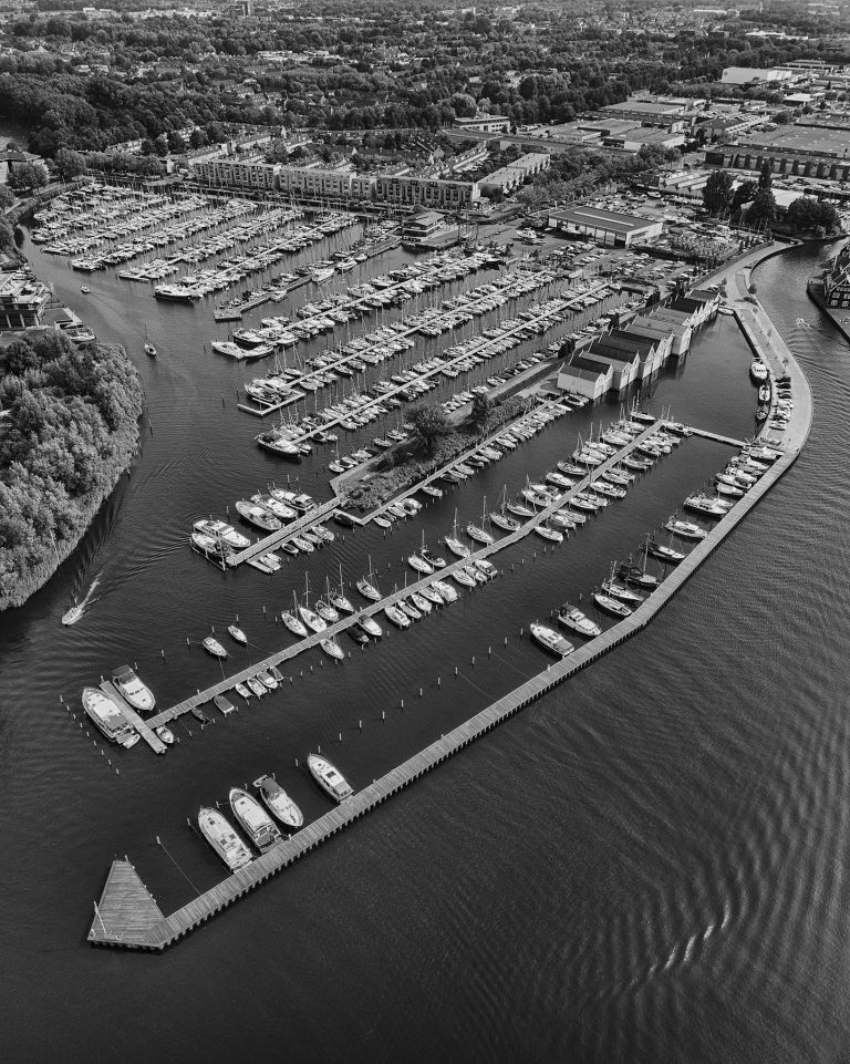 Marina in Huizen, as seen from my drone
