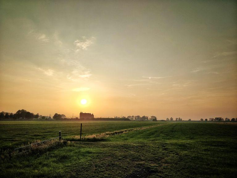 Typical Dutch sunset